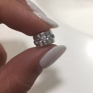 Pandora sterling silver and CZ clip